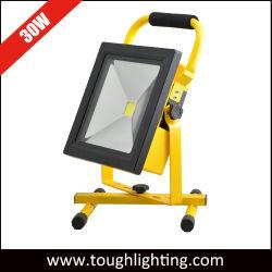 Fonctionne sur batterie 30W Projecteur LED rechargeable avec socle