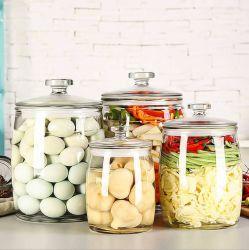 Les bocaux en verre de haute qualité des aliments Efface stockage Canister avec couvercle hermétique conteneurs de cuisine