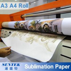 Commerce de gros 70/100GSM à séchage rapide de la sublimation du papier de transfert de chaleur