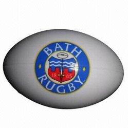 Il migliore sforzo di vendita della gomma piuma dell'unità di elaborazione dei giocattoli anti mette in mostra promozionale personalizzabile di rugby normale della sfera
