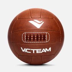 Kundenspezifische hellbraune alte Weinlese-Retro Fußball