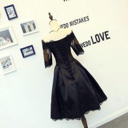 Простой дизайн оформление Bow-Knot оптовая торговля черным вечерние платья
