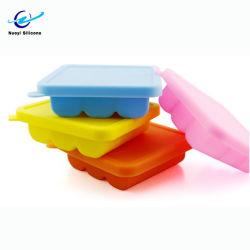 Matériau souple en silicone multifonction bac à glaçons Ice avec couvercle