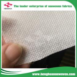A cor branca 15/20/25/30 de camada única GSM Nonwoven Fabric para máscara descartável, Mouth-Muffle tecido de polipropileno