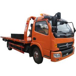 Dongfeng 4tons 4X4 4X2 판매 구조차 트럭을%s 오른손 드라이브 편평한 침대 경사 쟁반 견인 트럭 구조차