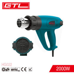 Herramientas eléctricas de GTL 2000W Pistola de aire caliente de temperatura ajustable (HG022)