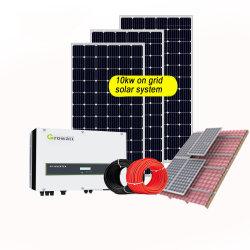 가정용 태양열 전력 계통 5kW 10kW 15kW 20kw 25kw 30kW Longi 450W 비산지 PV 단결정 태양광 동력 계통 그리드/그리드 연결형 태양열 시스템의 경우