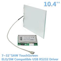 10,4 polegadas LCD quiosque viu USB do painel de toque multimédia de Interface RS232 12V DC