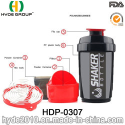 2019年の最近500ml BPAは放すPP容器(HDP-0307)が付いているプラスチック蛋白質のシェーカーのびんを
