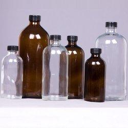 Fles van het Glas van het parfum de Duidelijke Amber voor de Kosmetische Room van de Olie van het Voedsel
