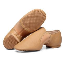 Professional Ballet Caqui dançar calçados de couro