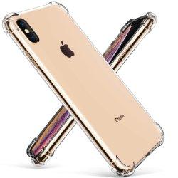 Crystal Clear Cache Téléphone Téléphone TPU souple Cas avec absorption des chocs des coins et transparent de bouclier arrière Slim