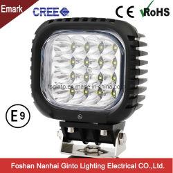 Emark 48W 5 дюйма 12V/24V КРИ светодиодный фонарь рабочего освещения на Auto Car погрузчика на тракторе по просёлочным дорогам вилочный погрузчик Caterpillar John Deere (GT1013B-48W)