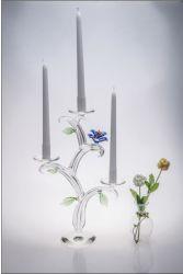 De Houder van de Kaars van het Kristal van vijf Affiches voor de Decoratie van het Huwelijk