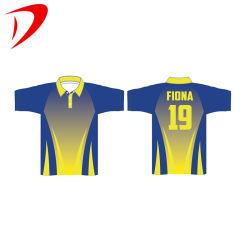 قميص بولو الرسمي لرجال الأعمال القطنية بجودة عالية 100% قميص بولو للجولف مع طوق أصفر ومصنع رخيص قميص بولو مخصص مصعَّد