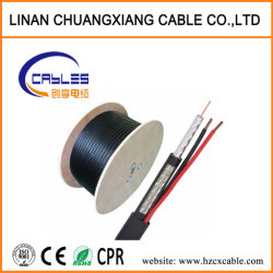 Communication de fil de cuivre RG59+2c Câble Coaxial Satellite/Câble de caméra numérique