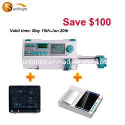 Pompa medica della siringa dello schermo a colori della singola Manica LED