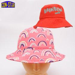 Reversible Rainbow Upf50+ Cuchara Hat por dos impresión OEM Disney Fama 2021 de regalo de la auditoría de la moda Hat Hat bebé Hat una alta calidad