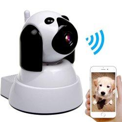 Câmara de Segurança IP de cães sem fio WiFi, Monitor de PET da câmera do bebê