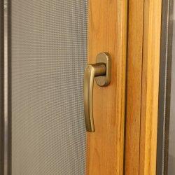 Double vitrage des fenêtres en bois d'aluminium, American Style à battants en bois massif des fenêtres à battants en aluminium