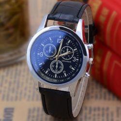 Горячая продажа мужские кварцевые часы с Three-Eye ремень
