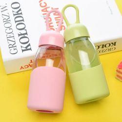 Anti-Rivestire di ferro del coperchio della bottiglia di acqua della tazza del nuovo silicone dei bambini di vetro del coperchio e cassa antisdrucciolevole del silicone