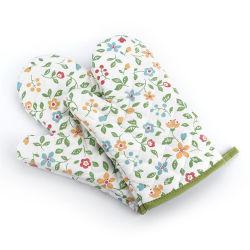 فرن الميكروويف الذي يغرق فرن الحرارة غطاء يدوي مضاد للحرارة فرن الزهور اليابانية الحرارة قفازات العزل