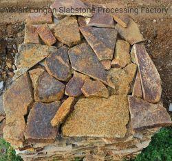 Dunkler Brown-Sandstein-gelegentliches Steinfurnier-blatt