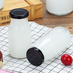 Draadbek-strijkdeksel 200250500 ml melkyoghurt glazen fles Fles met verse melk