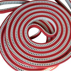 Revestimiento de goma roja Wear-Resistant Correa de distribución de la máquina de embalaje