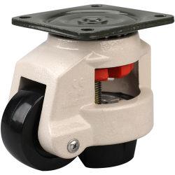 2 3 4 5 인치 백색 까만 나일론 회전대 격판덮개 볼트 구멍 줄기 브레이크를 가진 철회 가능한 수평하게 하는 조정가능한 산업 피마자 바퀴