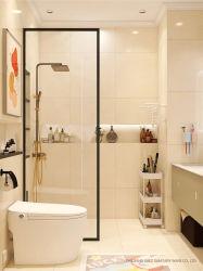 Walk in Shower door, Tempered Superior Glass 8mm dik voor badkamerbehuizing, Black Frame 10mm vier randen. Strenge kwaliteitscontrole