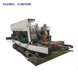 PLC 자동적인 수평한 유리제 직선 두 배 테두리와 폴란드어를 갈기 가공 기계장치 (Jfd-2028)