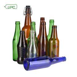250ml/330ml/355ml/500ml/620ml/640ml/azul/âmbar claro/vidro verde garrafas de cerveja