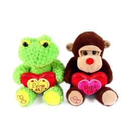La Saint Valentin cadeau adorable ours en peluche brun doux un jouet en peluche