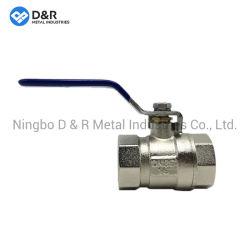 Valvola a sfera in ottone con placcatura in nichel Pn25 per tubazioni in fabbrica in Cina