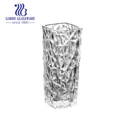 5.5  يتزحزح  مربّع يشكّل أنيق ينقش  زجاجيّة إناء زهر زجاج  سطح طاولة زجاجيّة [فلوور فس] زخرفة [فس&160]; [غب1501بل-1]