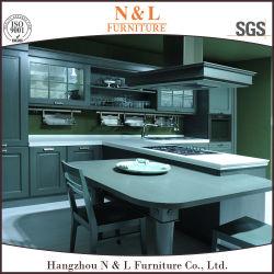 N&L de meubles en bois massif Hot conception modulaire des armoires de cuisine