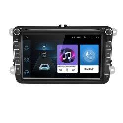 نظام تحديد المواقع العالمي للسيارة IPS بدقة 1280*720 قياس 8 بوصات 2DIN لتمرير VW بولو جولف Skoda Seat مع 2 مقابض مفاتيح بلوتوث خريطة الوسائط المتعددة الراديو
