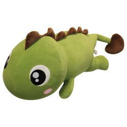 恐竜の枕はおもちゃの人形のスリープの状態である大きい枕によって詰められた人形の布の人形を詰めた