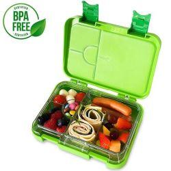 新しいデザインTritanの4人のセクション子供のお弁当箱を密封する物質的な食糧容器のシリコーン
