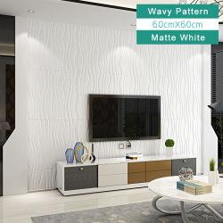 Novo design colorido de Pedra Self-Adhesive 3D de parede a parede de espuma cobrindo