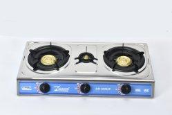 Besse klassischer Edelstahl-Gas-Ofen-Kocher mit 2+1 Brennern (ZG-3076C)