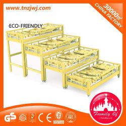 家は車輪が付いている木製の家具の赤ん坊の二段ベッドを使用した