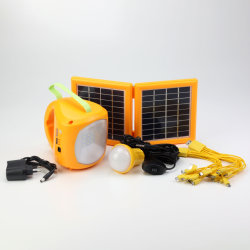 1PC bombilla LED/Adaptador de CA/Cables USB para cargar el teléfono móvil Camping recargables LED Linterna Lámpara de iluminación solar Mini