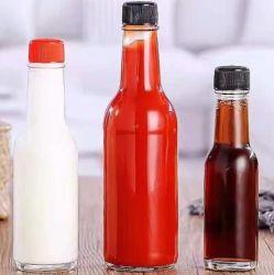 زجاجات زجاجية 8 أونصات صلصة مع تصميم مخصص ولوغوس
