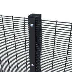 مسحوق أسود مطلي بالفولاذ مضاد للتسلق جدار شبكي عالي الأمن 358.
