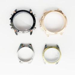 Cnc-Dame-Armbanduhr zerteilt allen Edelstahl-Wasser-Beweis-Uhr-Kasten mit quadratischem Steinanzeigetafel-Diamant-Armbanduhr-Kasten