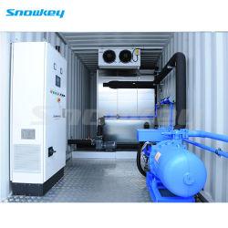 Proceso Industrial Snowkey planta enfriadora de agua en contenedores CW960.