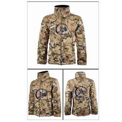 Outdoor Casaco táctica dos homens de stand-up Polyest Colar de espessura fina Outono Inverno tem proteção contra o soft Shell Vestuário de camuflagem